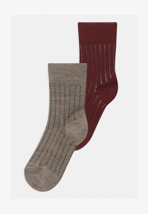 2 PACK UNISEX - Strumpor - wine red