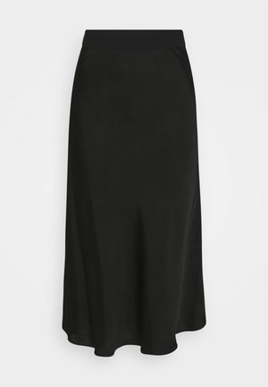 SKIRT MIDI RELAXED FIT - Áčková sukně - deep black