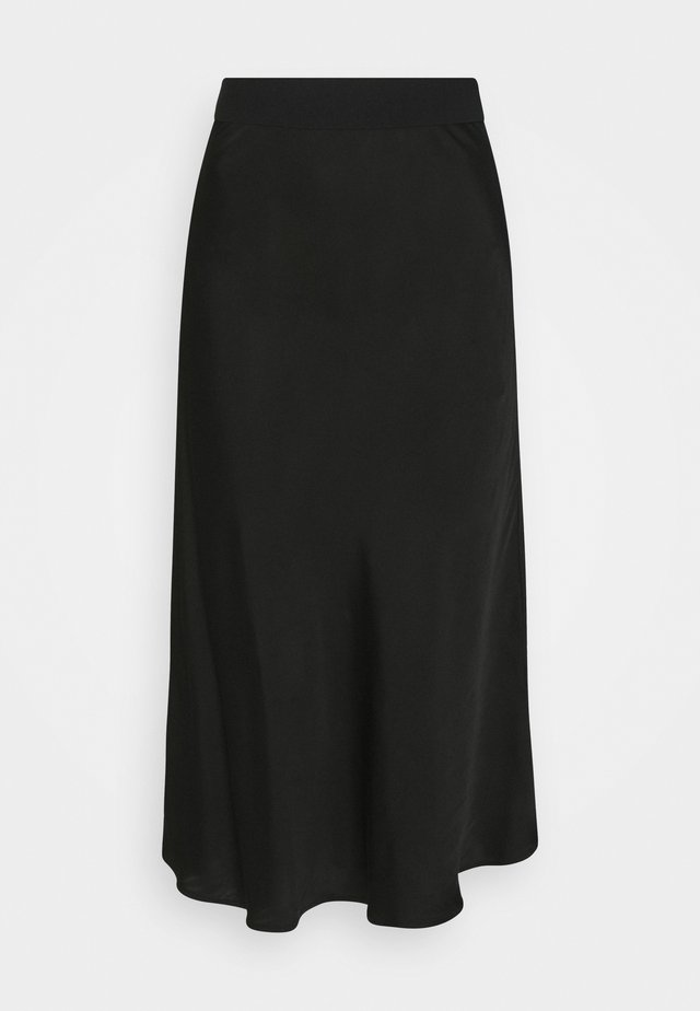 SKIRT MIDI RELAXED FIT - A-line skirt - deep black