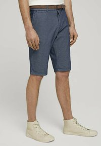 TOM TAILOR - Shorts - blue indigo structure - 5