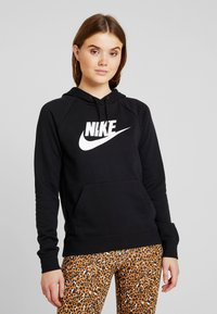 Nike Sportswear - HOODIE - Felpa con cappuccio - black/white - 0