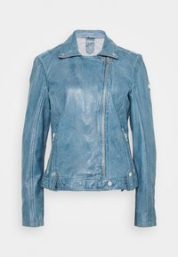 Gipsy - FAVOUR LAMAXV - Leather jacket - light blue - 0