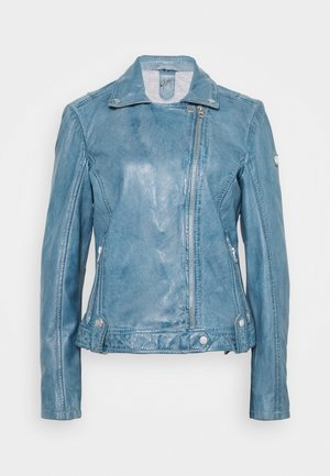 FAVOUR LAMAXV - Leather jacket - light blue