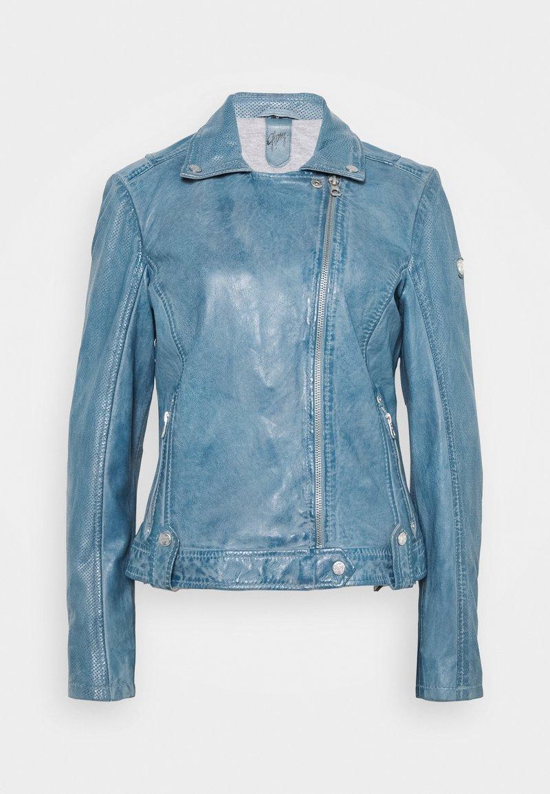 Gipsy - FAVOUR LAMAXV - Leather jacket - light blue