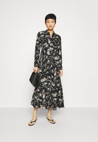 Mavi - PRINTED DRESS - Vestido camisero - black/multi-coloured - 1