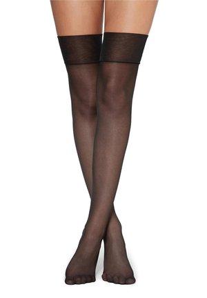 TRANSPARENTE HALTERLOSE OVERKNEE-STRÜMPFE 20DENIER - Over-the-knee socks - nero