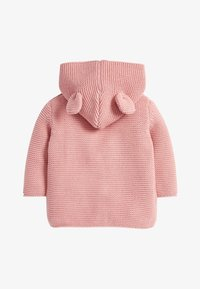 Next - OATMEAL HOODED EAR CARDIGAN (0MTHS-3YRS) - Cardigan - pink