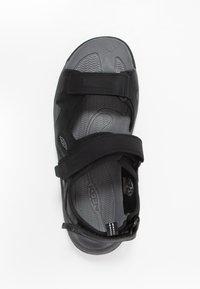 Keen - TARGHEE III OPEN TOE  - Walking sandals - black/grey - 1