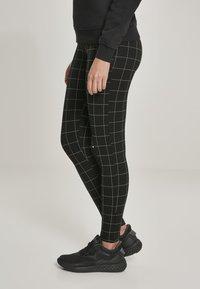 Urban Classics - Leggings - Trousers - black/white - 4