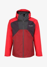 Columbia - RAIN SCAPE - Waterproof jacket - dark purple, mtn red, red jasper, shark - 6
