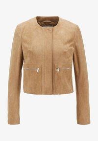 BOSS - Leather jacket - beige - 5