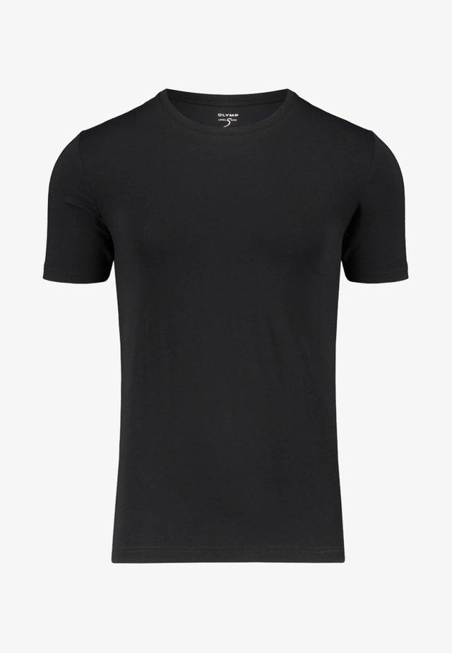 OLYMP LEVEL FIVE HERREN UNTERHEMD KURZARM - Undershirt - black