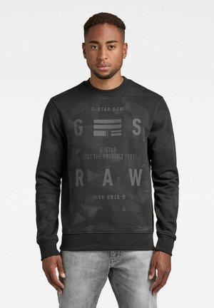 TAPE AOP R SW L\S - Sweater - raven tape camo