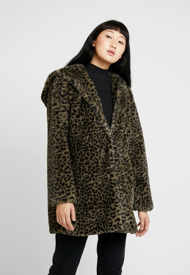 LADIES LEO COAT - Winter coat - darkolive