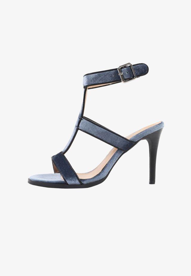 IBIZA - Sandalen met hoge hak - blue