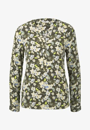 BLOUSE LONGSLEEVE PRINTED - Blouse - small khaki floral design