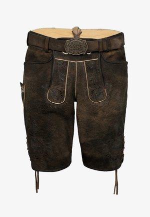 FC BAYERN FIMO - Leather trousers - braun
