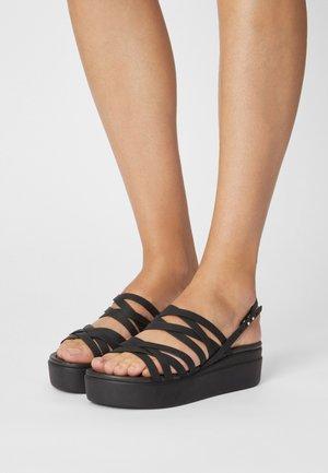 BROOKLYN STRAPPY - Platform sandals - black