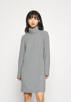 VIELITA HIGH NECK DRESS - Jumper dress - light grey