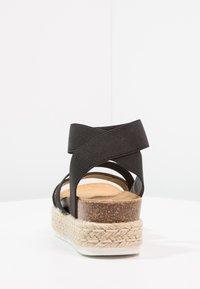 Steve Madden - KIMMIE - Platform sandals - black - 5