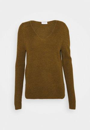 VIOKTAVI V-NECK - Pullover - butternut melange