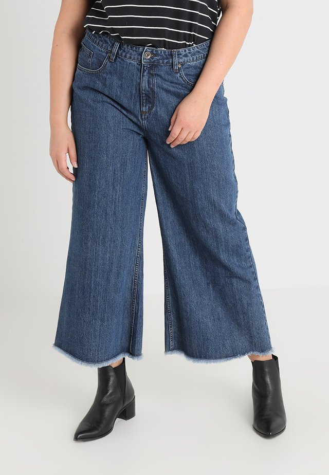 LADIES CULOTTE - Široké džíny - ocean blue