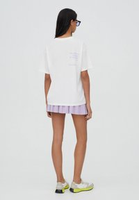 PULL&BEAR - T-shirt med print - white - 2