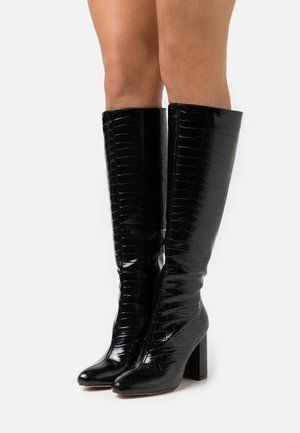 KARMA KNEE HIGH BOOT - Kozaki na obcasie - black