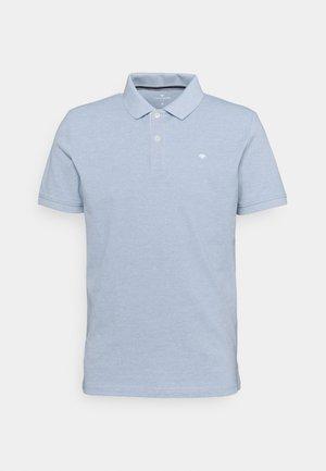 BASIC WITH CONTRAST - Polo shirt - dusk blue white melange