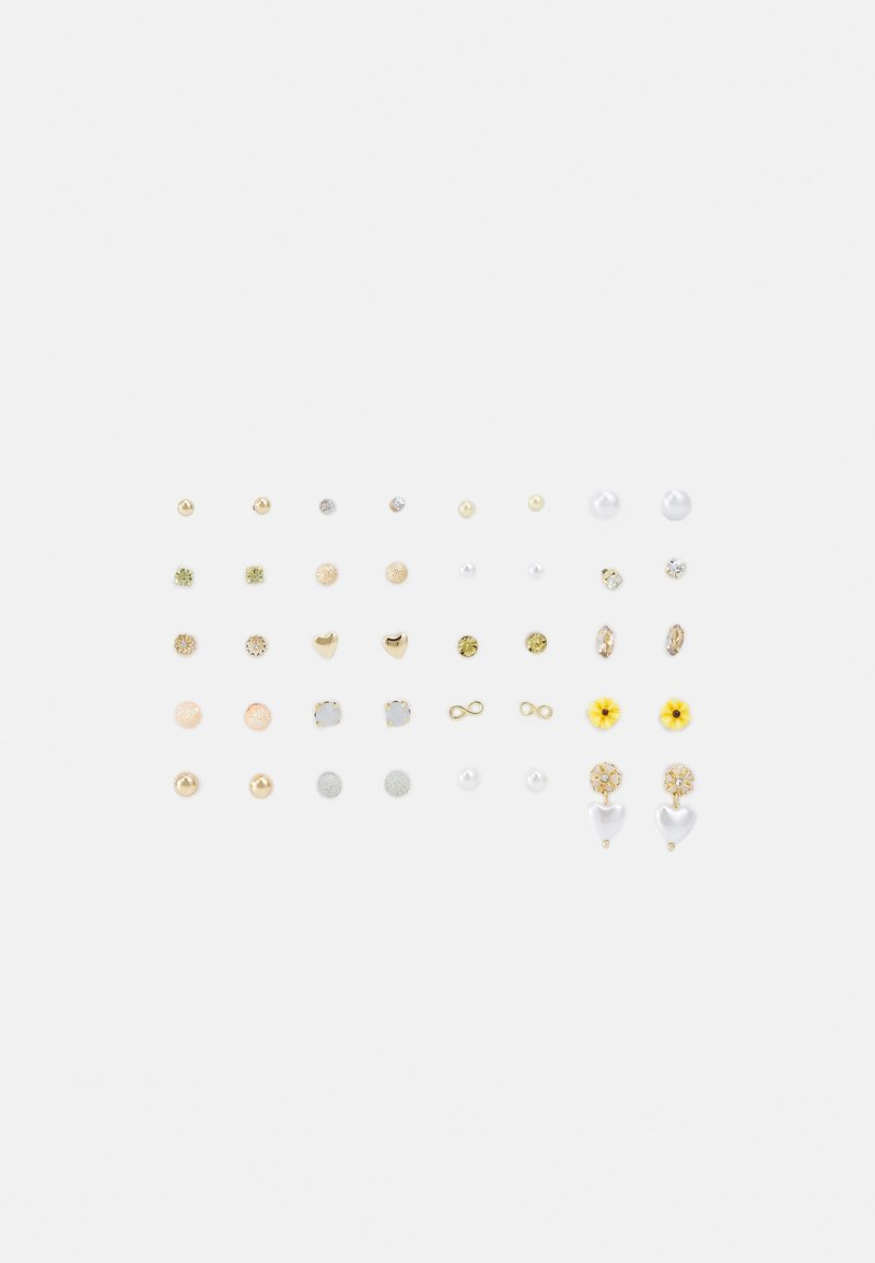 Pieces - PCQIU EARSTUDS KEY 20 PACK - Øredobber - gold-coloured
