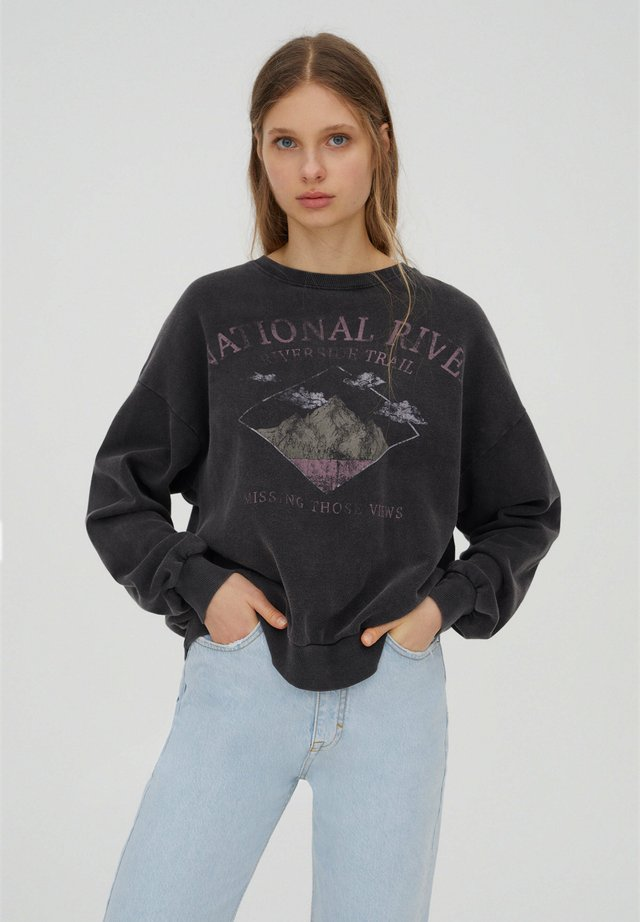 Sweatshirts - mottled dark grey