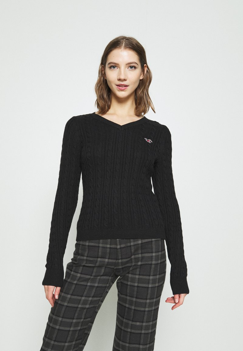 Hollister Co. - ICON CABLE - Jumper - black