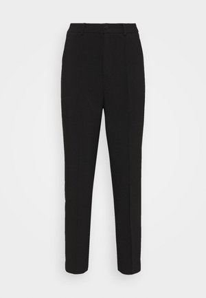 BASIC BUSSINESS PANTS WITH PINTUCKS  - Trousers - black