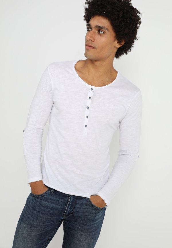 Key Largo GINGER - Bluzka z długim rękawem - white/biały Odzież Męska THNJ