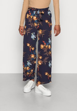 ONLNOVA PALAZZO PANT - Trousers - night sky/fall devon