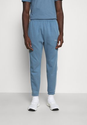 TRAINING ESSENTIALS PIPING - Tracksuit bottoms - blue slate