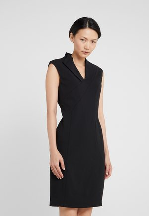 CURVE SEAM MIDI SHEATH - Shift dress - black
