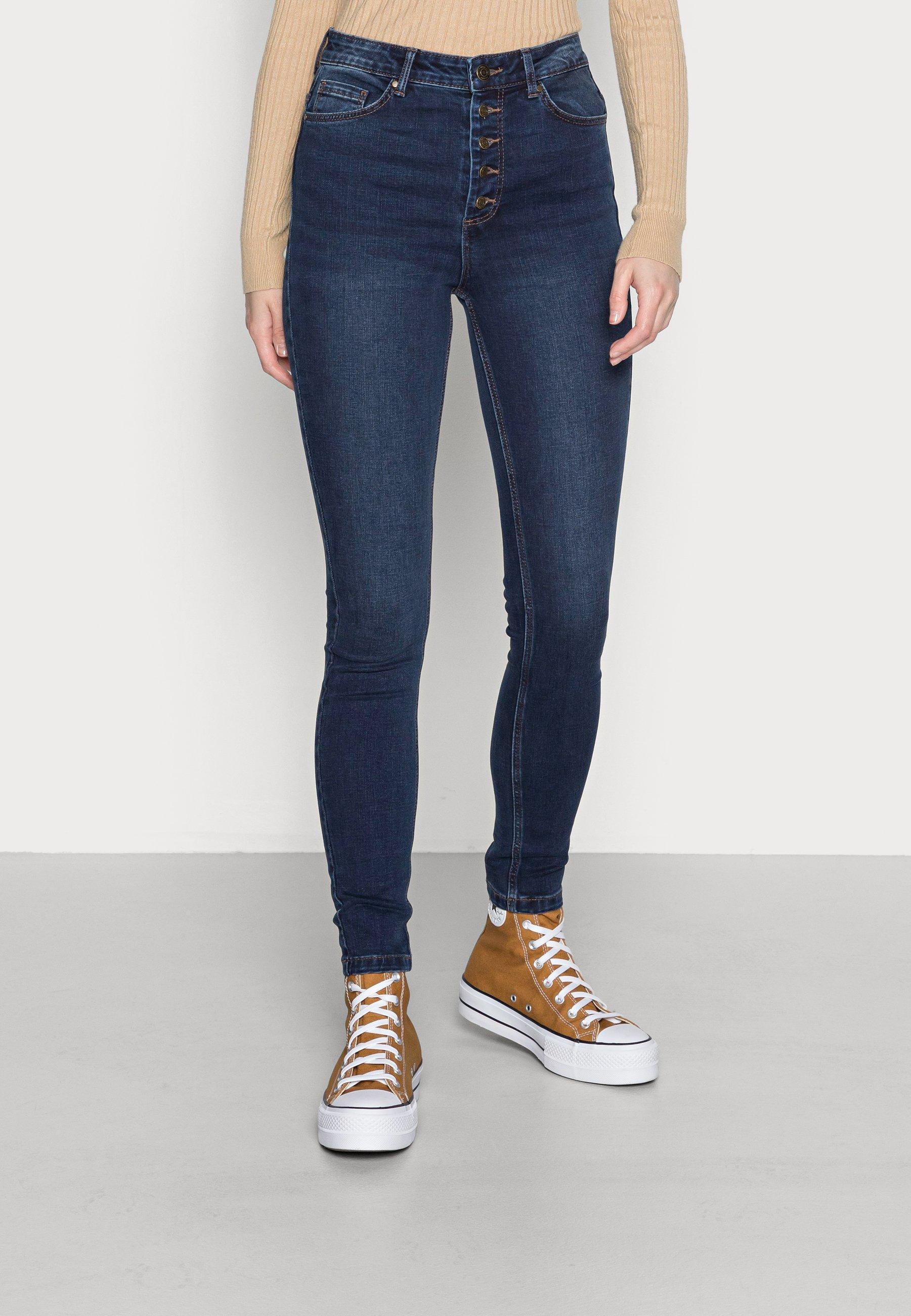 Damen VMJOY SKINNY TAPERED BUT - Jeans Skinny Fit