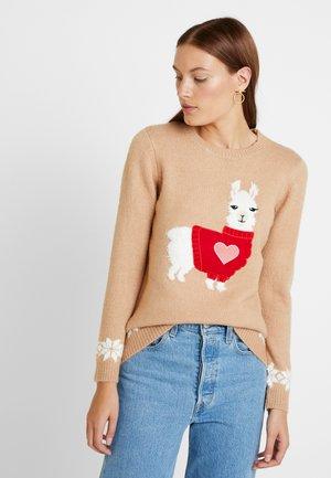 LLAMA HEART - Pullover - camel
