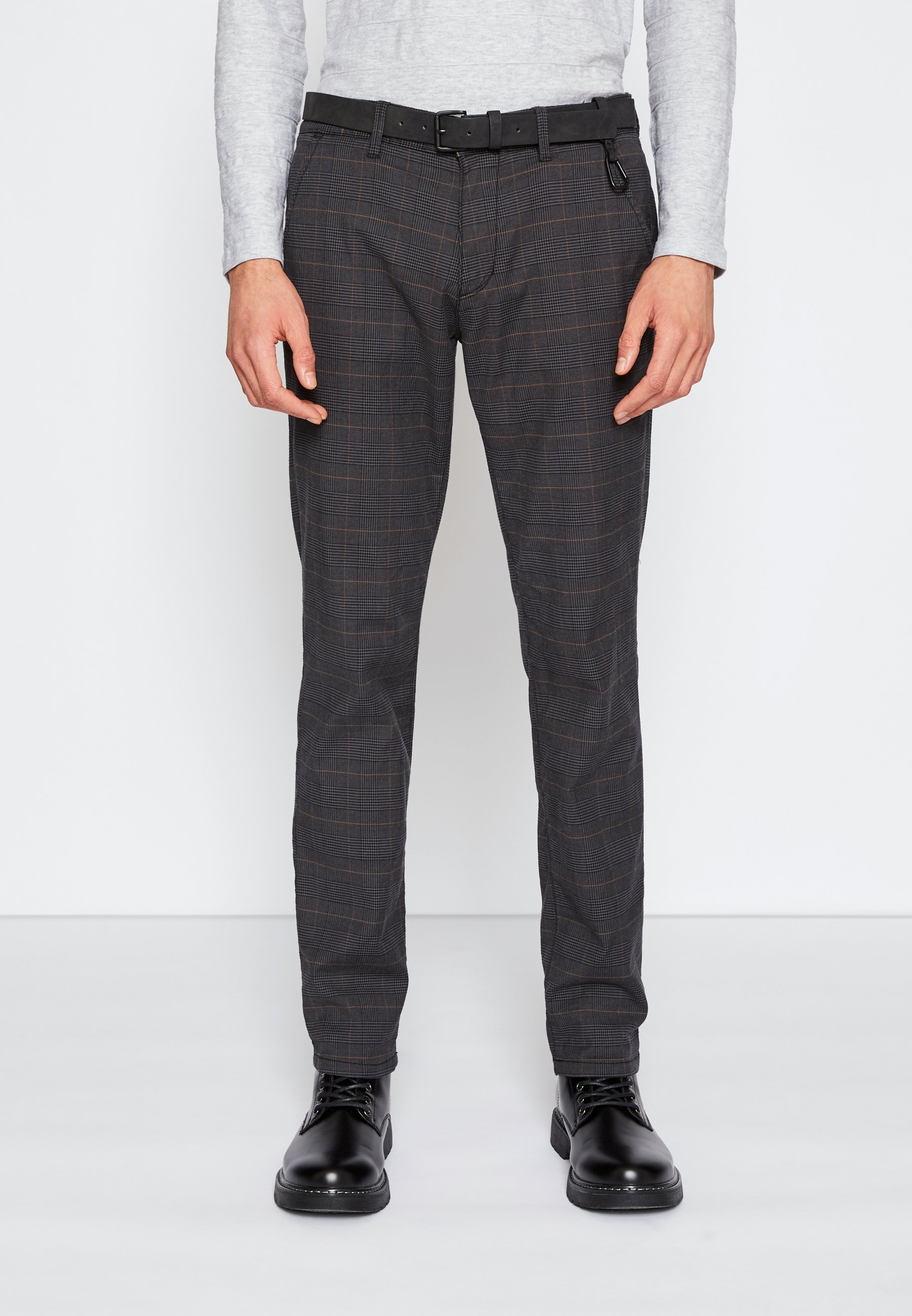 Homme STRUCTURED - Chino - grey/brown