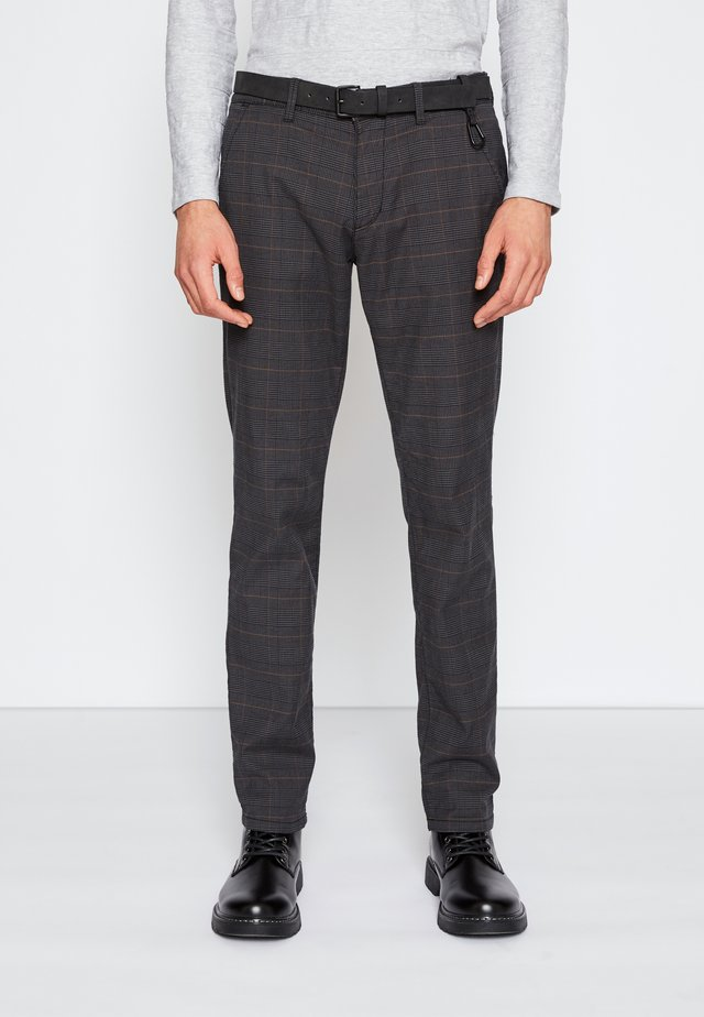 STRUCTURED - Chinos - grey/brown