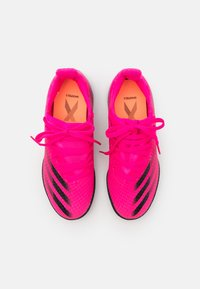 adidas Performance - X GHOSTED.3 TF UNISEX - Astro turf trainers - shock pink/core black/screaming orange - 3