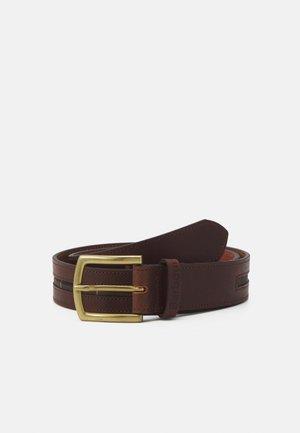 TARTAN PIPED BELT - Pásek - brown