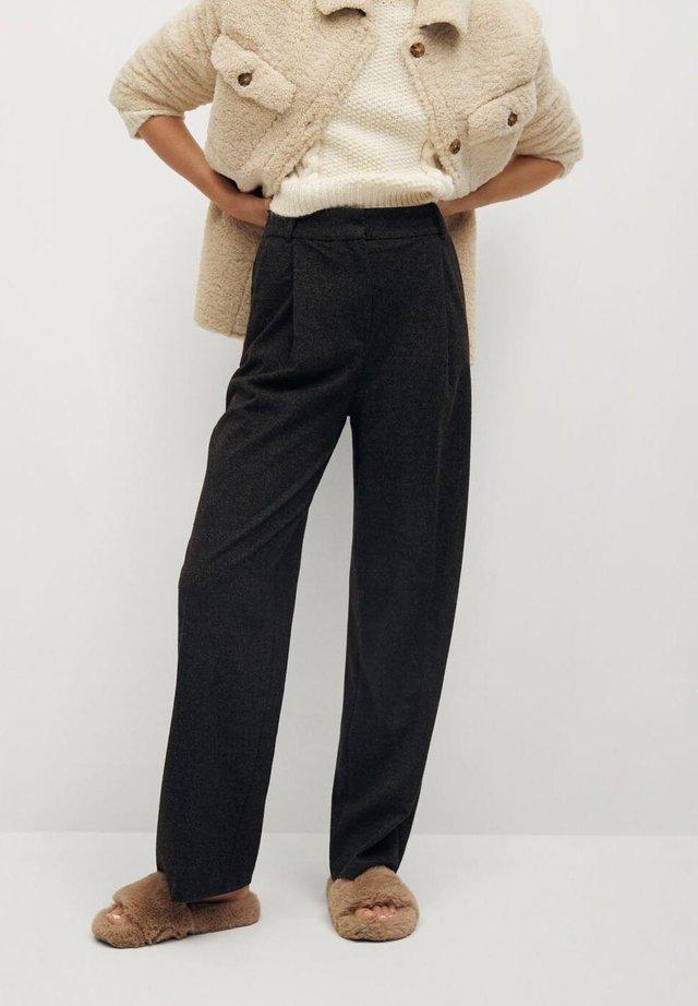 MARLEN - Trousers - gris chiné foncé