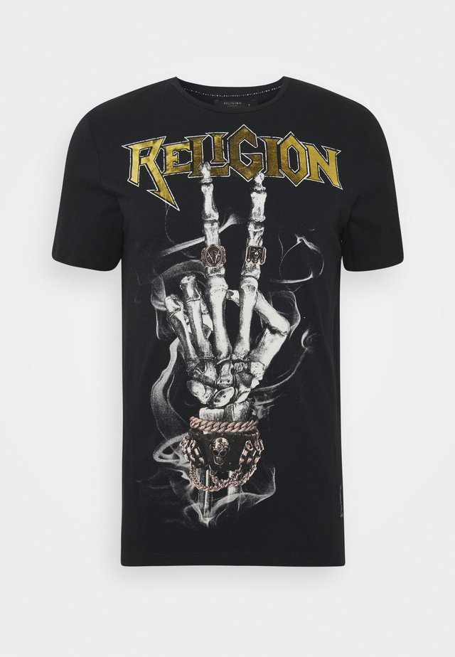 PEACE SKELETON TEE - Print T-shirt - black
