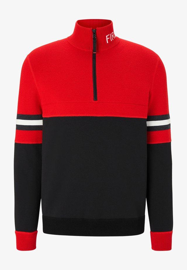 Pullover - rot/navy-blau