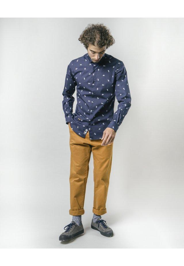 MAN ON THE MOON - Skjorta - blue