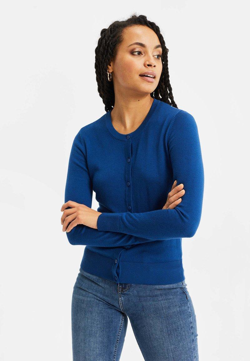 WE Fashion - Chaqueta de punto - navy blue