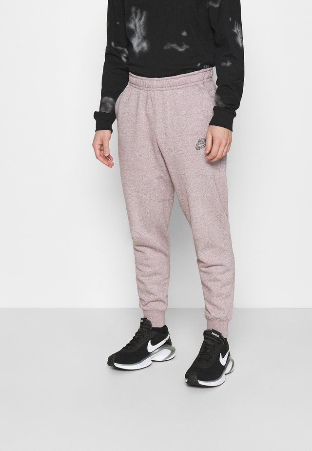 Tracksuit bottoms - multicolor/university red