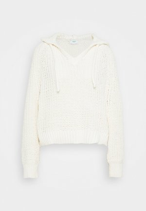 CHENILLE HOODIE - Sweter - natural